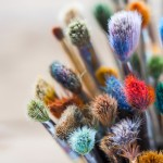 Fotolia #79861632 |Bunch of artist paintbrushes closeup, selective focus | Urheber: chamillew